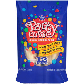 Kroger® Chocolate Swirl & Strawberry Swirl Ice Cream Party Cups 12-3 fl. oz. Cups