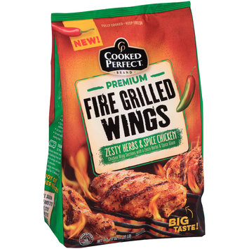 Cooked Perfect® Premium Fire Grilled Wings Zesty Herbs & Spice 20 oz. Bag