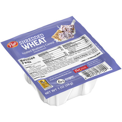 Post® Frosted Blueberry Shredded Wheat Cereal 1 oz. Bowl