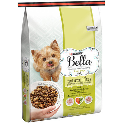 Purina Bella Natural Bites Plus Vitamins and Minerals With Real Chicken & Turkey and Accents of Carrots & Green Beans Adult Dry Dog Food - 12 lb. Bag
