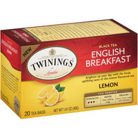 Twinings of London® Lemon English Breakfast Tea Bags 20 ct Box