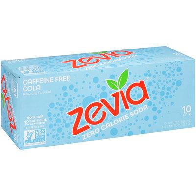 Zevia® Zero Calorie Caffeine Free Cola 10-12 fl. oz. Cans