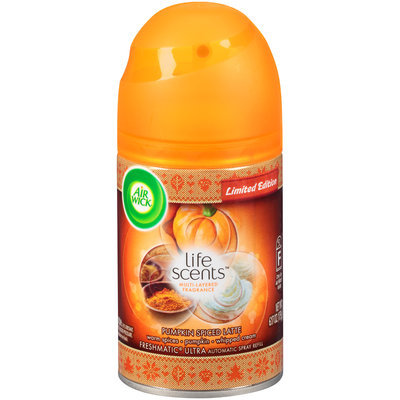 Air Wick® Freshmatic® Ultra Life Scents™ Limited Edition Pumpkin Spiced Latte Automatic Spray Refill 6.17 oz. Aerosol Can