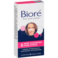 Biore Deep Cleansing Pore Strips 6 ct Box