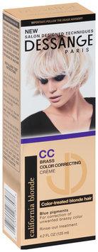 Dessange Paris California Blonde Brass Color Correcting Creme 4.2 fl. oz. Box
