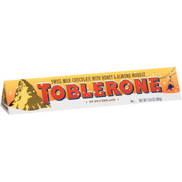 Toblerone Swiss Milk Chocolate with Honey & Almond Nougat 12.6 oz. Box
