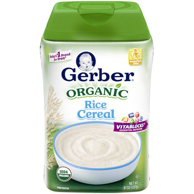 Gerber® Organic Rice Cereal (Pack of 6)