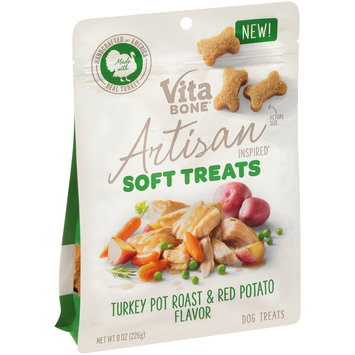 Vita Bone® Artisan Inspired® Turkey Pot Roast & Red Potato Flavor Soft Dog Treats 8 oz. Pouch