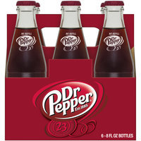 Dr Pepper, 8 Fl Oz Glass Bottles, 6 Pack