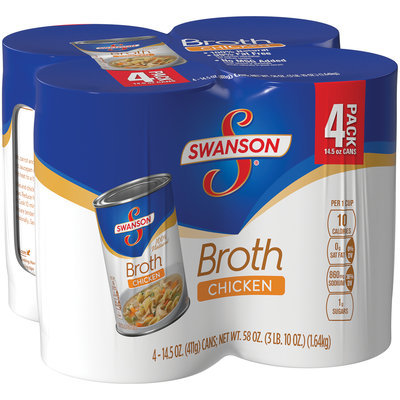 Swanson Chicken Broth 4-14.5 oz.