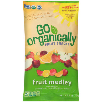 Go Organically® Fruit Medley Fruit Snacks 4 oz. Pouch