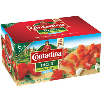 Contadina® Diced Roma Style Tomatoes with Italian Herbs 6-14.5 oz. Can