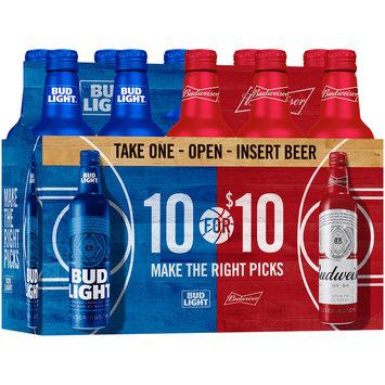 Bud Light® & Budweiser® Beer 10 ct Box