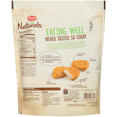 Tyson® Naturals™ Breaded Chicken Breast Nuggets 20 oz. Bag