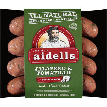 Aidells® Jalapeno & Tomatillo Smoked Chicken Sausage with Queso Fresco 12 oz. Pack