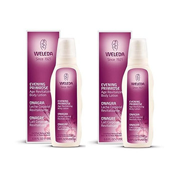 Weleda Evening Primrose Age Revitalizing Body Lotion, Luxurious Moisturizer For Dry, Mature Skin With Sesame and Millet, 6.8 fl. oz. (Pack of 2)