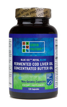 Green Pastures Blue Ice Royal Butter Oil Fermented Cod Liver Oil Blend - Capsules