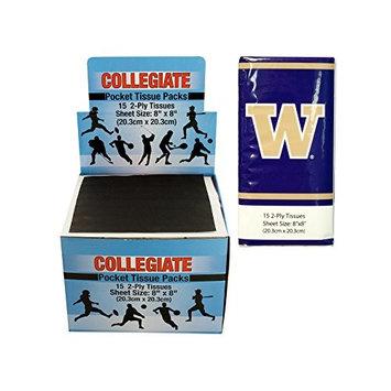 Kole Imports PB673 Washington Huskies Pocket Tissues Countertop Display