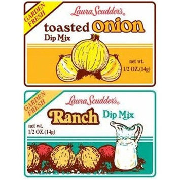 Laura Scudder's Toasted Onion and Ranch Dip Mix (Pack of 12)