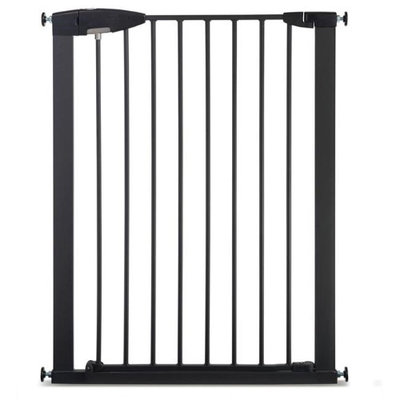 Step By Step Easy Close Extra Large Metal Safety Gate Black