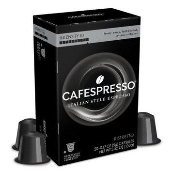 Cafespresso Ristretto, Nespresso Compatible Capsules, 20 count (5 g) capsules, Intensity Level 10