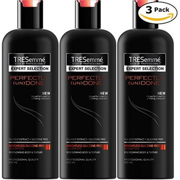 TRESemme Expert Selection Shampoo Perfectly Undone, Pack of 3, (16.9 Fl. Oz / 500 ml Each)