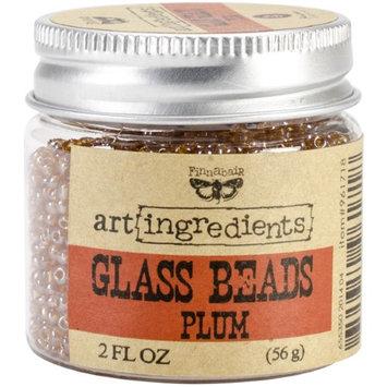 Prima Finnabair Art Ingredients Glass Beads 2oz-Plum