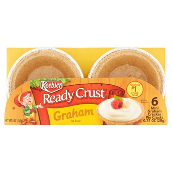 Kellogg Company Keebler Ready Crust 9 Inch Mini Graham Pie Crust, 6 count, (Pack of 12)