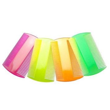 Lice Comb Fine Tooth Plastic Nit Comb (4 Pack, Fluro Mix)