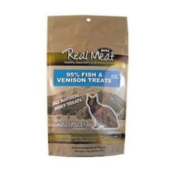 Real Meat Company 80030 3oz Fish and Venison Treats for Cats