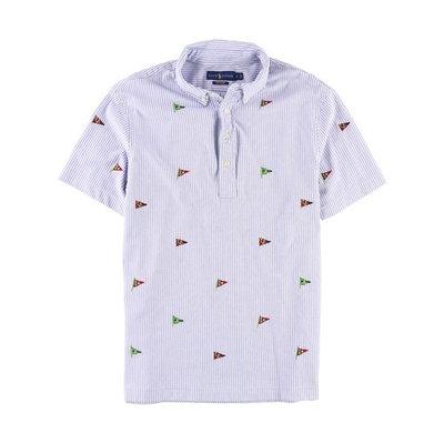 Ralph Lauren Mens Knit Oxford Rugby Polo Shirt