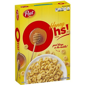 Post Honey Ohs! Breakfast Cereal 14 oz. Box
