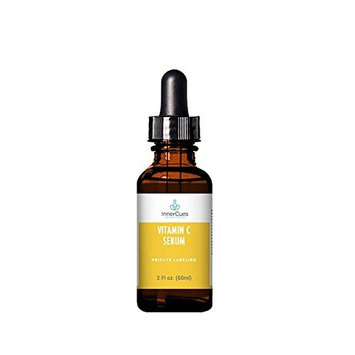 InnerCues Vitamin C Serum - Premium Vitamin C Serum for Face, Anti-Aging Topical Facial Serum with Hyaluronic Acid + Vitamin E- 2 oz