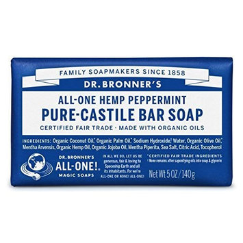 Dr. Bronners Bar Peppermint 5oz. Soap (6 Pack) by Dr. Bronner's