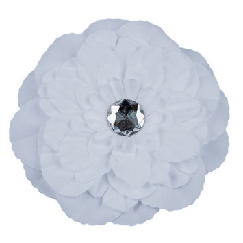 THZY Rhinestone Peony Flower Hair Clip for Girl Toddler Lady White