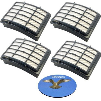 HQRP HEPA Filter for Shark Navigator UV540 NV358 NV391 NV390 series Lift-Away Professional Upright Vacuum Cleaner, XHF350 Replacement + HQRP Coaster (Pack of 4)