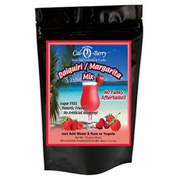 Sugar Free Strawberry Daiquiri Margarita No Calories or Carbs - 100% All Natural Mix - 11 Servings