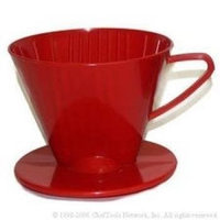 Harold Import Company Plastic Filter Cone 2 Medium Coffee Maker Black or Red