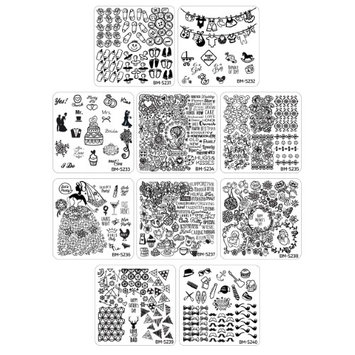 Bundle Monster 10pc Occasions Nail Art Stamping Plates - Family Ties Collection
