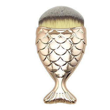 Binmer(TM) Pro Fish Scale Makeup Brush Fishtail Bottom Brush Powder Blush Makeup Cosmetic Brush (G
