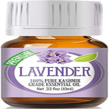 Healing Solutions Lavender 100% Pure, Best Therapeutic (Kashmir) Grade Essential Oil for Aromatherapy - 10ml