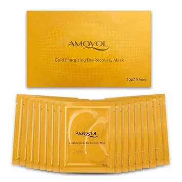 Collagen Eye Mask 24K Gold Reduce Dark Circles and Puffiness Eye Treatment Pads Eye Patches With Anti-aging and Wrinkle Care Properties, Valentines Day Gifts for Women & Men (16 Pairs)