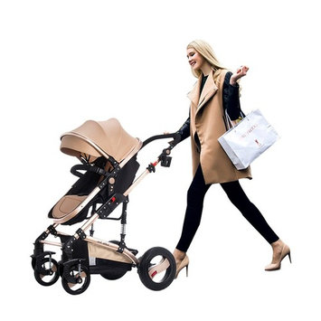 Baby Trend City Strollers for Newborn and Toddler Seat Strollers Safety Girls Mini Pram Pushchair (Rose Gold Bassinet Newborn seat)