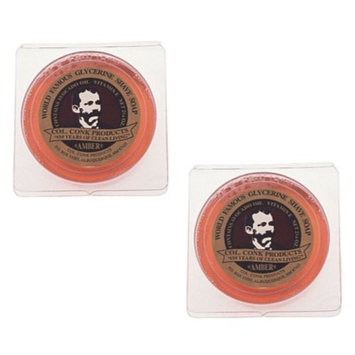 Col Ichabod Conk Amber Shave Soap Two Cakes