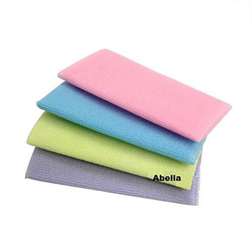 Abella Wash Cloth 4 pc. (Colors Varie) Assorted Colors by Abella