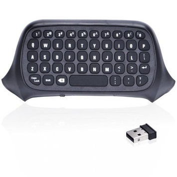 Agptek New 2.4G Mini Wireless Chatpad Message Keyboard for Xbox One Controller Black