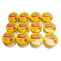 Carmex Cherry Flavored Lip Balm Lot of 12