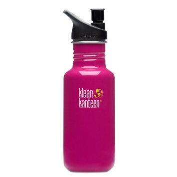 Klean Kanteen 18 oz Stainless Steel Water Bottle (Sports Cap 3.0 in Bright Green) - Ocean Blue