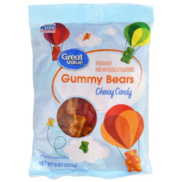 Wal-mart Stores, Inc. Great Value Gummy Bears, 9 oz