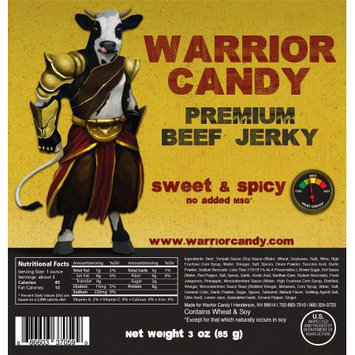 Warrior Candy Premium Beef Jerky Sweet & Spicy